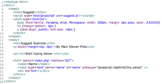 [CSDW_4250]   Ajax and PHP: The Simple Way - PHP Tutorials - PHPBuilder | Index.php |  | PHPBuilder